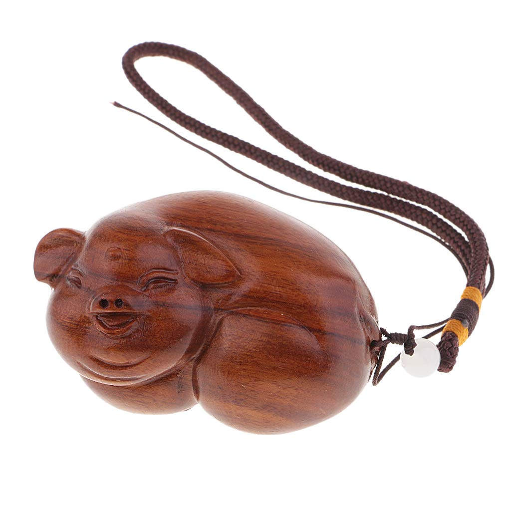 SM SunniMix Rosewood Handcrafted String Bracelet with Lucky Pig Protection Totem Charms