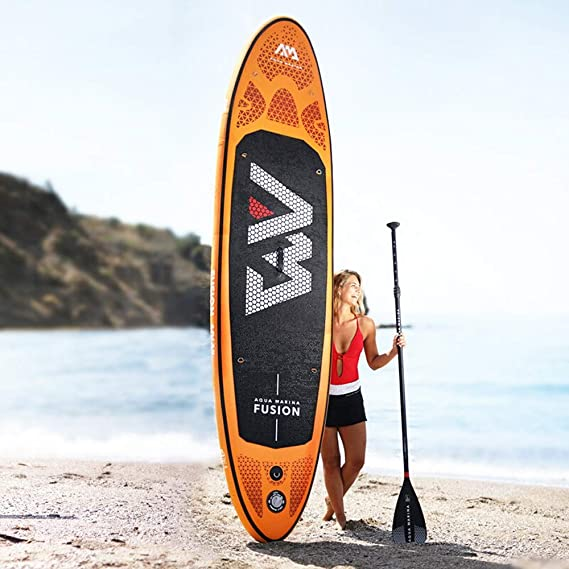 Tabla de surf Adulto de pie Tablero inflable Paddle profesional Sup Tablero de pulpa Contiene Paddle ajustable de fibra de carbono completo + Cuerda para el ...