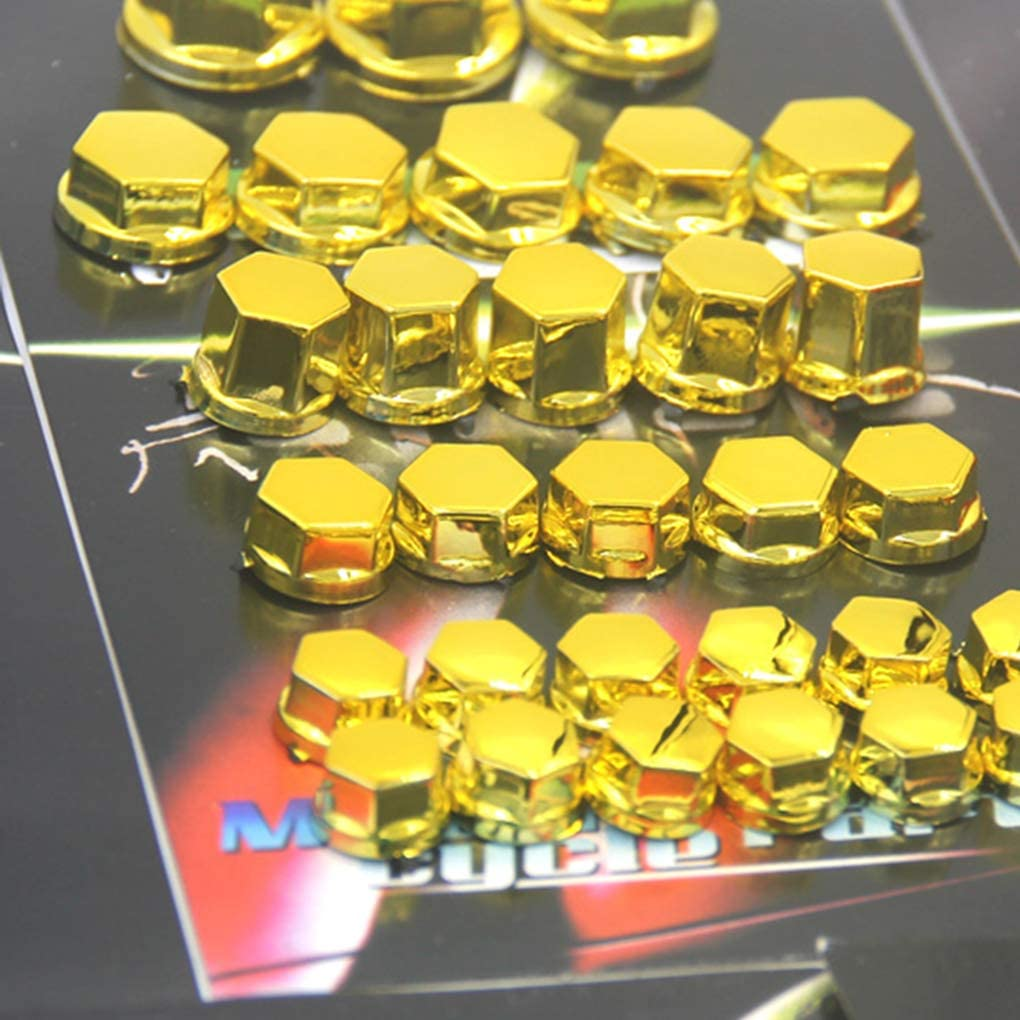 Gold Pegcduu 30PCS//Set Bolts Toppers Caps Motorcycle Motorbike Hex Socket Screw Nut Bolt Cap Cover Decoration