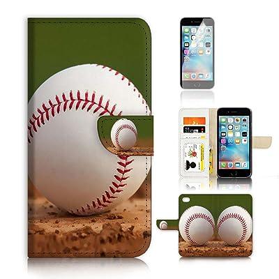 (para iphone 8plus) funda tipo cartera para carcasa de silicona y protector de pantalla Paquete. a20181béisbol