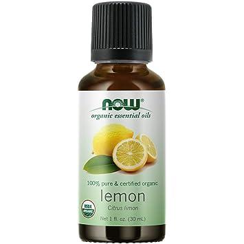 Amazon Com Now Aceites Esenciales Aceite De Limón Orgánico Aroma De Aromaterapia Alegre Prensado En Frío 100 Puro Vegano Tapa Resistente Al Niño 1 Onza Beauty