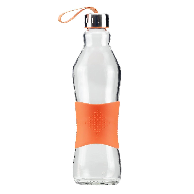 Grip & Go 1.0L Cristal Agua Botella/Combi - Mango de Silicona ...