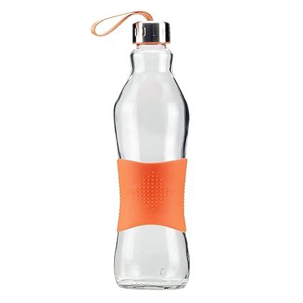 Grip & Go Botella de vidrio para beber/ para nevera 1.0L - Tapa de