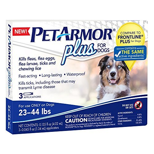 PetArmor 3 Count Plus for Dogs Flea and Tick Squeeze-On, 23-44 lb. by PETARMOR