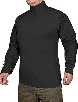 HARD LAND - Camiseta de Manga Larga para Hombre, táctica, Militar, con Cierre de 1/4 de Cremallera, para Exteriores: Amazon.es: Deportes y aire libre