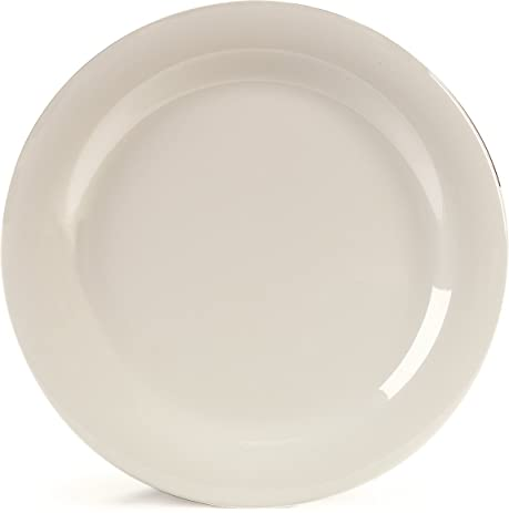 Amazon.com: Carlisle (4300242) Dinner Plates, Dozen (10-1/2-Inch ...