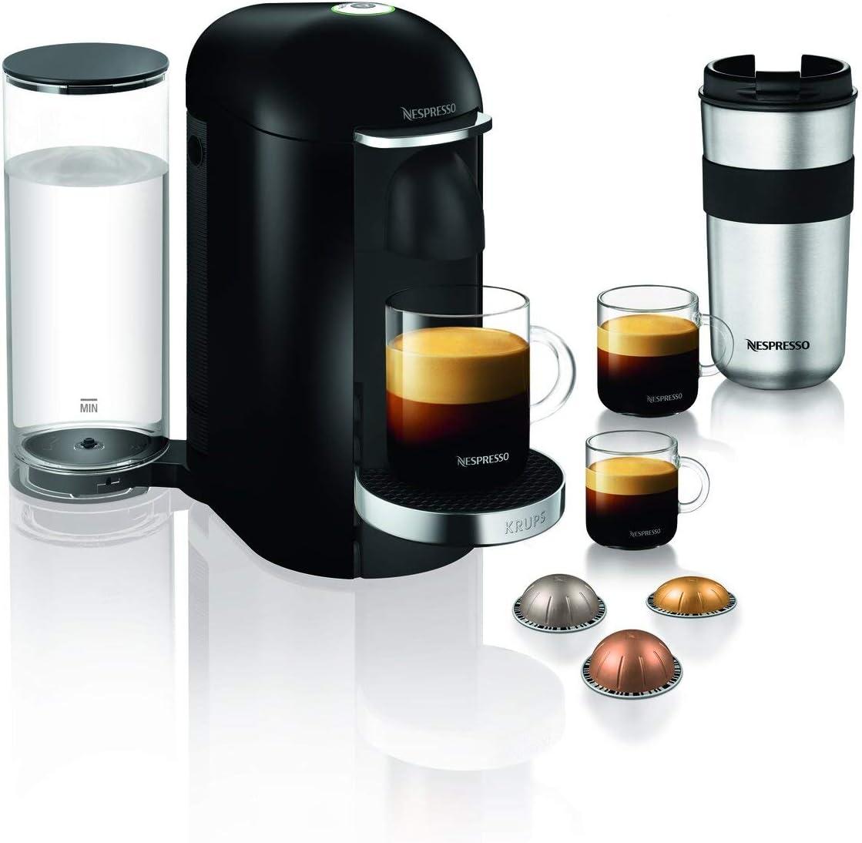 Krups Nespresso Vertuo Plus - Cafetera de cápsulas Depósito de agua de 1,7 L. negro/acero: Amazon.es: Hogar