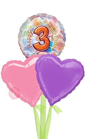 No 3 Happy 3rd Birthday Girl