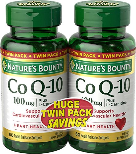 Nature's Bounty Co Q10 Pills and Dietary Supplement, Supports Cardiovascular and Heart Health, 100mg, 60 Softgels, 2 Pack