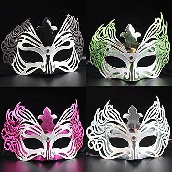 Disfraces Halloween princesa niña máscara media cara máscara de Venecia carnaval Cosplay (colores aleatorios)