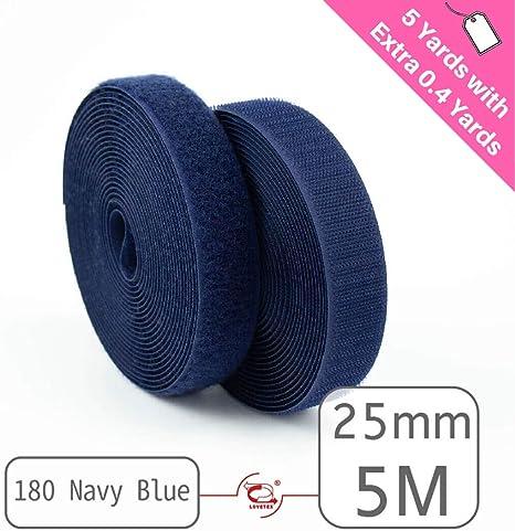 25mm Navy Sew On Hook and Loop Tape
