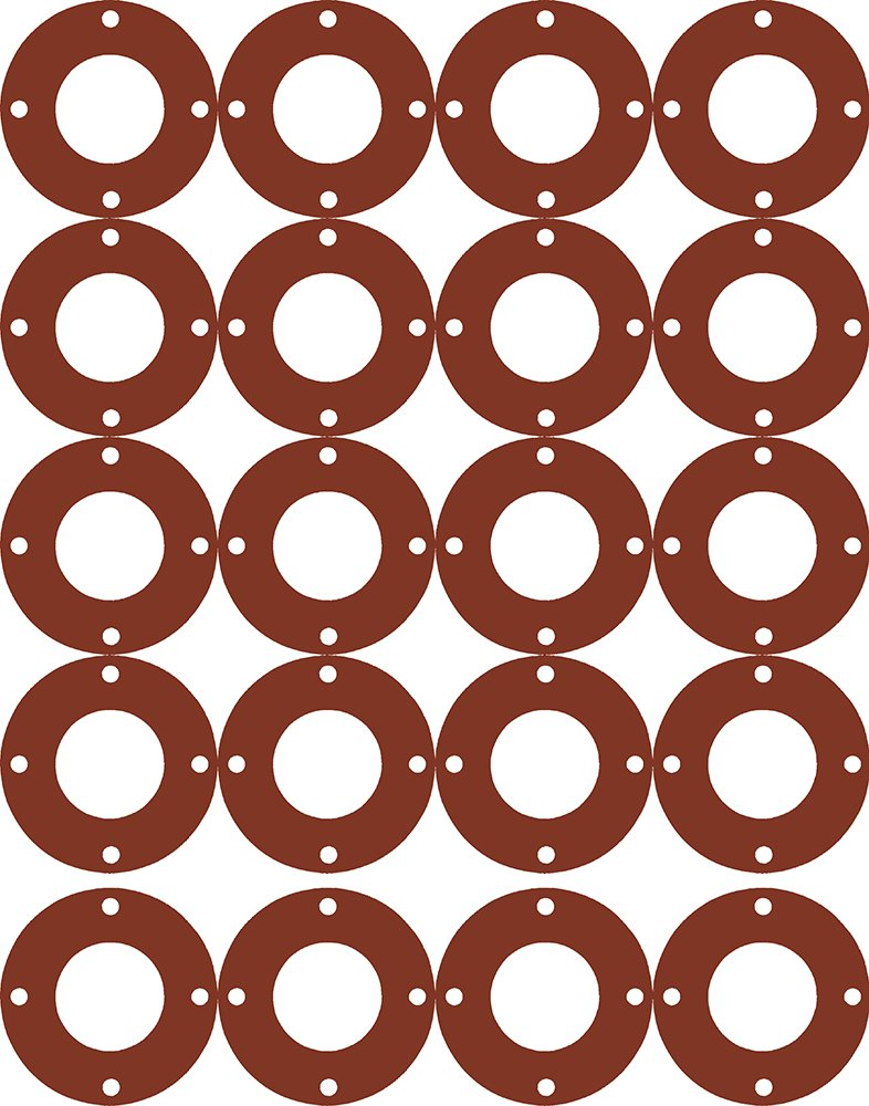 Sterling Seal CFF7175.1500.031.300X20 7175 50-60 Durometer Full Face Gasket 1//32 Thick Pack of 20 1-1//2 Pipe Size 1//32 Thick 1.91 ID Supplied by Sur-Seal Polymer//Polydimethysiloxane//Silicone Pressure Class 300# 1-1//2 Pipe Size 1.91 ID