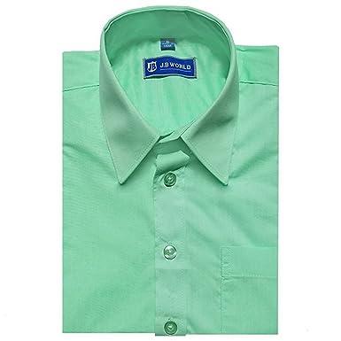 aae0bc71018d JB World Big Boys Mint Long Sleeve No Button Collar Uniform Dress Shirt 8