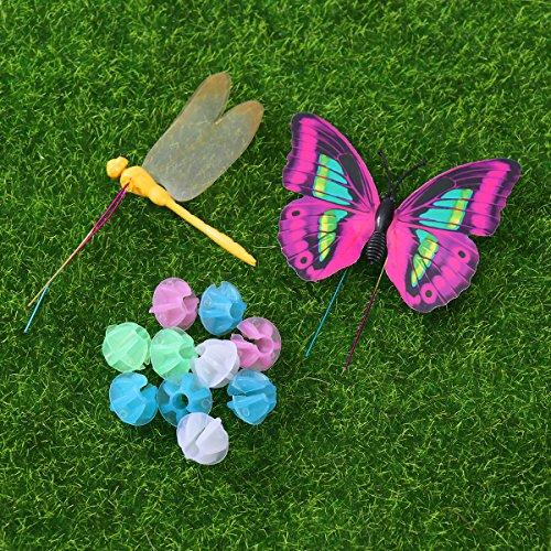 WINOMO Set of Bicycle Decor Bike Bicycle 108pcs Wheel Spoke Beads Luminous Plastic Round Spoke Bead 30pcs Butterflies Clips 6pcs Dragonflies Clips by WINOMO (Image #3)