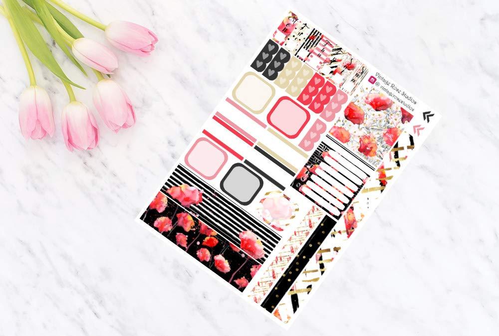 Hobonichi Weeks Sticker Kit Planner Stickers 2x Poppy Hobonichi Weeks Weekly Planner Kit UK