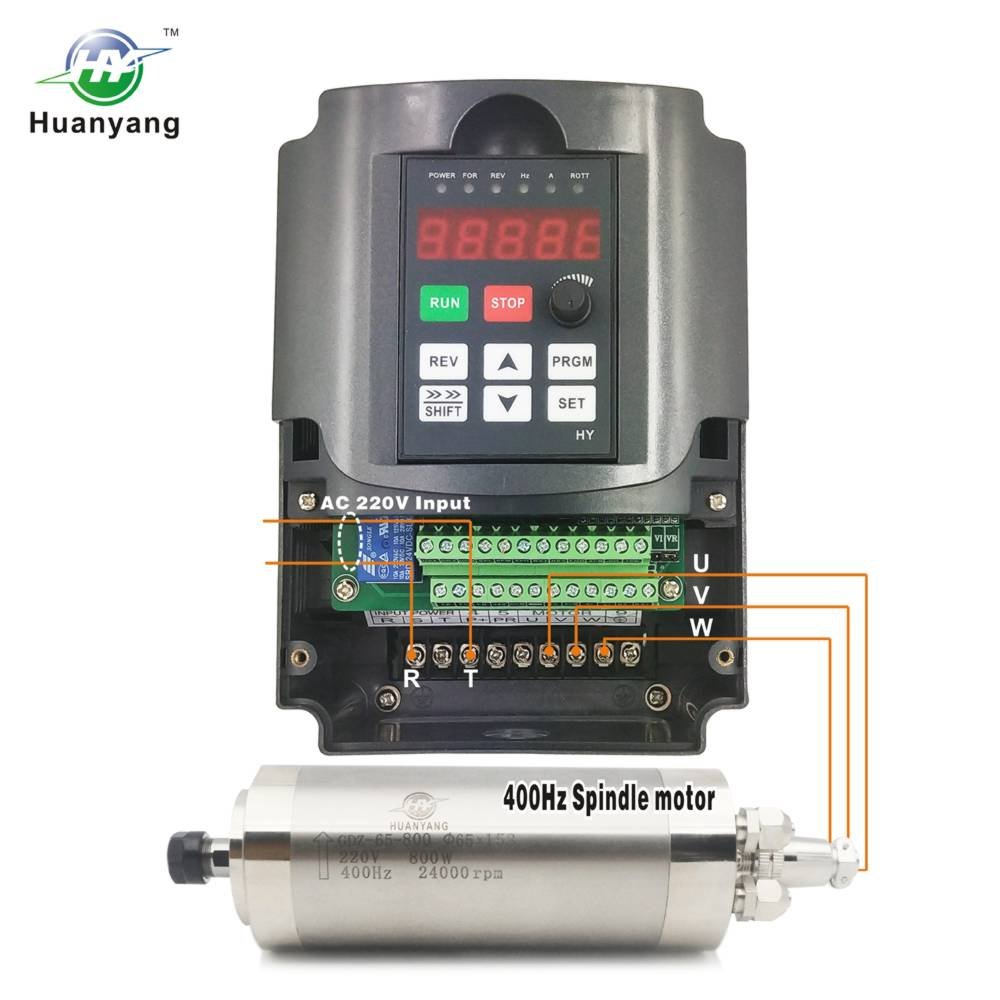 Amazon.com: VFD 220V 0.75KW 1hp Variable Frequency Drive CNC VFD Motor Drive Inverter Converter for Spindle Motor Speed Control HUANYANG HY-Series(0.75KW, ...