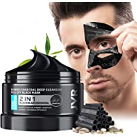 JVR Blackhead Remover Mask for Men,Bamboo Charcoal Peel Off Black Mask,Purifying and Deep Cleansing for All Skin Types 4…