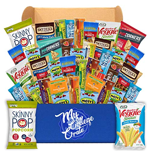- My College Crate Ultimate Healthy Snack Care Package for College Students - Variety Assortment of Healthy Snacks (40 Snacks) - The Healthy College Survival Kit