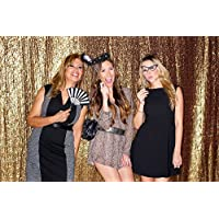 Gold Shimmer Sequin Fabric Photography Backdrop (8FTX8FT)