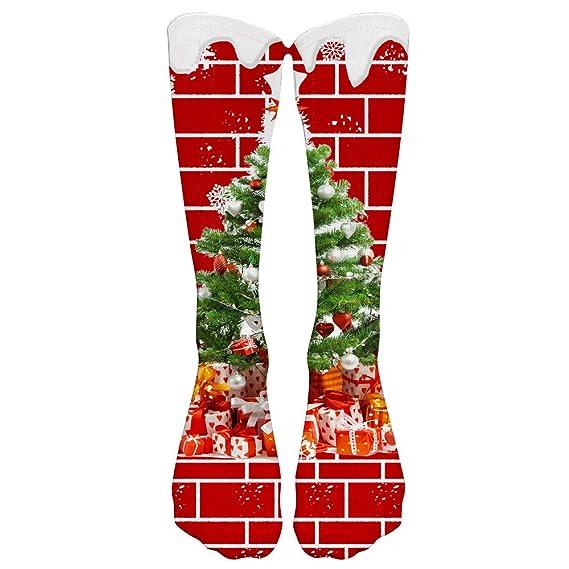 Rawdah_Calcetines Mujer Invierno Divertidos Termicos Algodon Colorido Tie Tinte De Compresión Calcetines De Fútbol De Calcetines Altos Calcetines Largos: ...