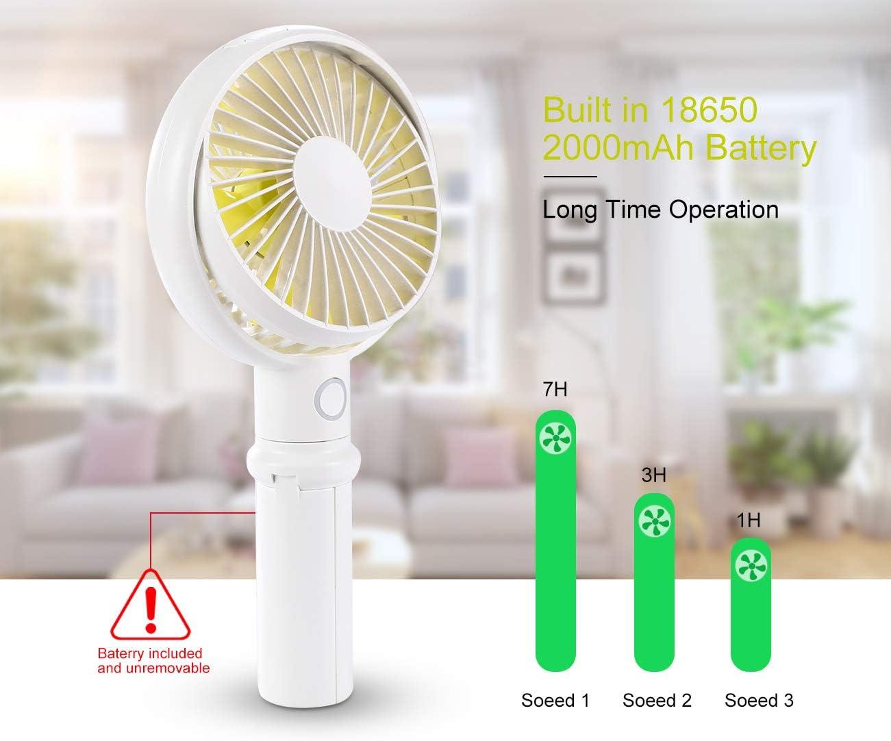 RIT58 Mini Portable USB Charging Fan ,Rotating Handheld Desktop Cooling Fan, Cooler Mobile Phone Holder Supplies
