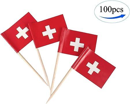 100 Pcs Cocktail Sticks National Flag Picks Celebration Cupcake Country Party