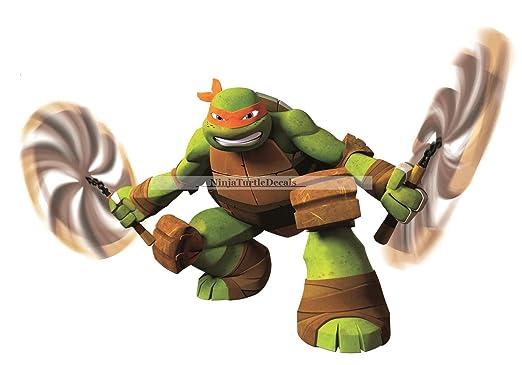 10 inch michelangelo nunchucks mikey mike orange chucks turtle tmnt teenage mutant ninja turtles movie removable