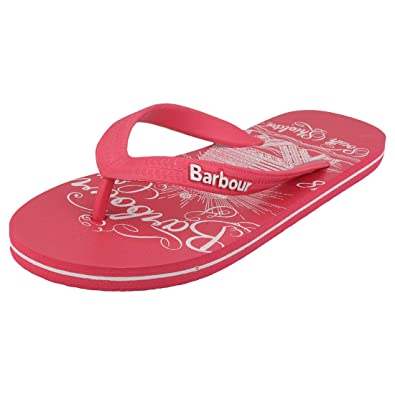 44298df5a15a2b Barbour Womens Beach Sandal Slip On Summer Lightweight Flip Flops - Pink -  4.5