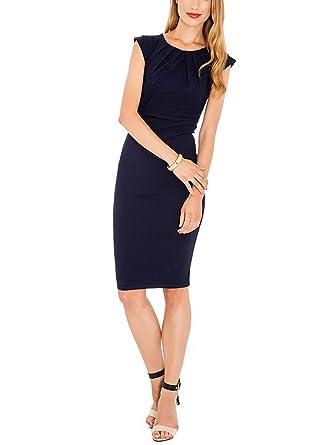 9f1524b8ad Balleay Ladies Workwear Dresses Formal Career Office Bodycon Business  Evening Skirt (UK12