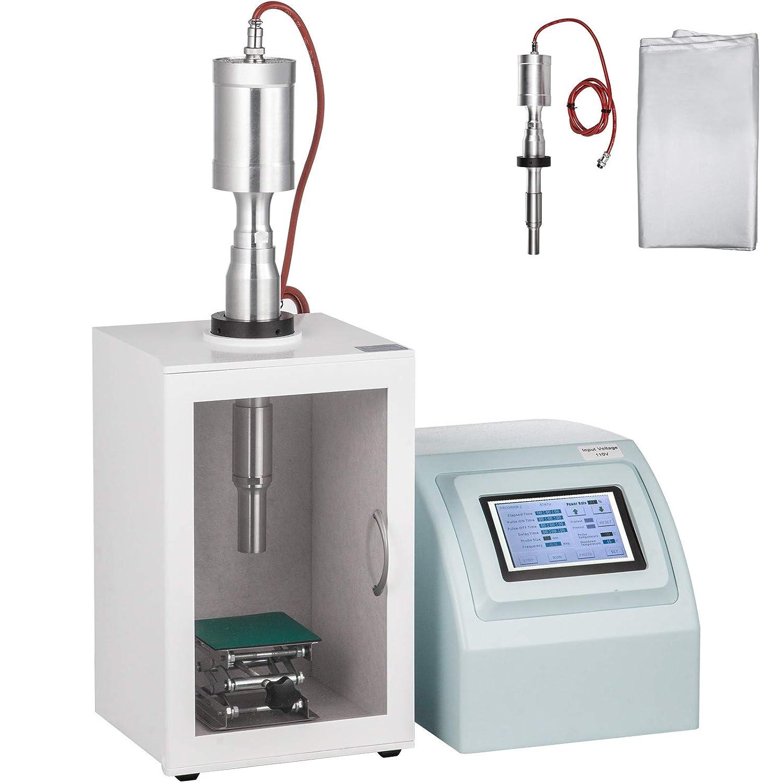 VEVOR Ultrasonic Homogenizer 50-2000ml Sonicator Processor Cell Disruptor Mixer with Temperature Probe for Emulsification and Nanoparticle Dispersion 1500W,50-2000ml
