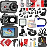 VEHO MUVI K-Series K-2 1080p 16MP Wi-Fi Sports Action Camera w/ 48GB 28PC Sport Action Bundle - Window Mount - Helmet Mount - Opteka X-GRIP Action Handle - High Power LED Video Light and MUCH MORE