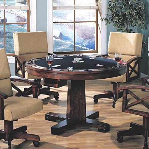 Marietta 3-in-1 Game Table Tobacco - Oak Folding Poker Table