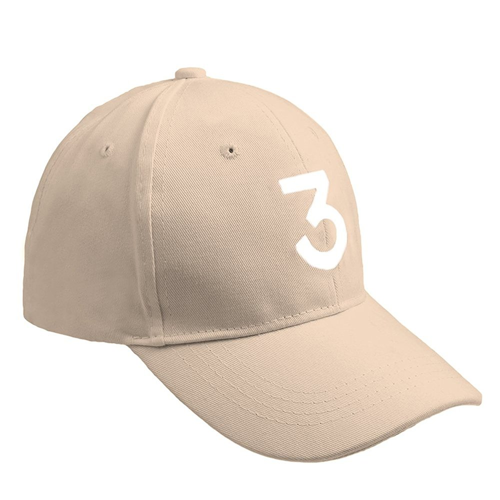 ZZURCCA Number 3 Baseball Cap Embroidered Adjustable Chance The Rapper Hip  Hop Hats Baseball Caps larger image f76b6855dfb3