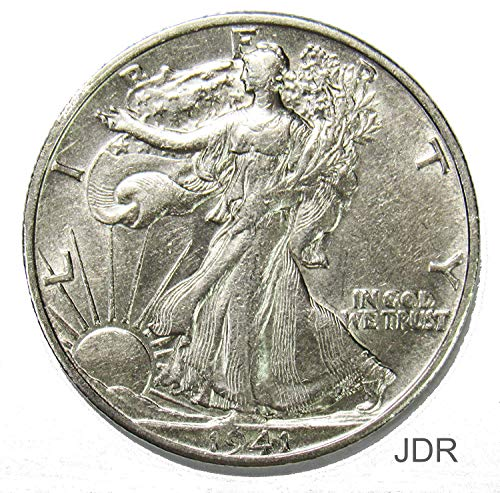 1941 S Walking Liberty Half Dollar 50c About Uncirculated
