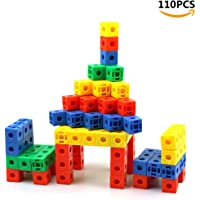 """Snap Cubes/Mathlink Cubes - Plastic Blocks Children Educational Counting Toy for Kids Early Learning 0.8"""" 110Pcs(Random Color)"""