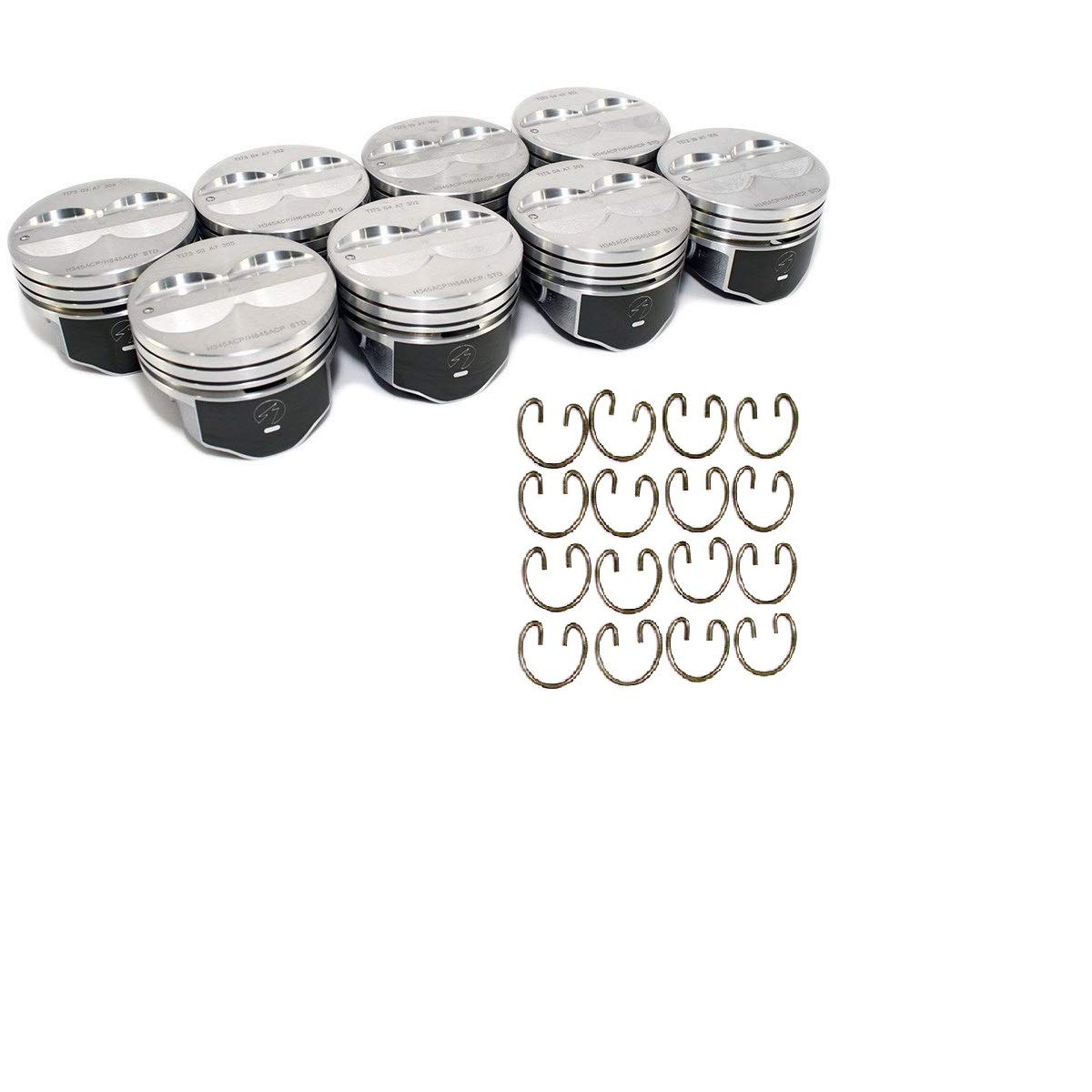 Speed Pro Flat Top Hypereutectic Pistons /& Lock Rings compatible with 350 SBC Chevys 4.060 Bore diameter .060