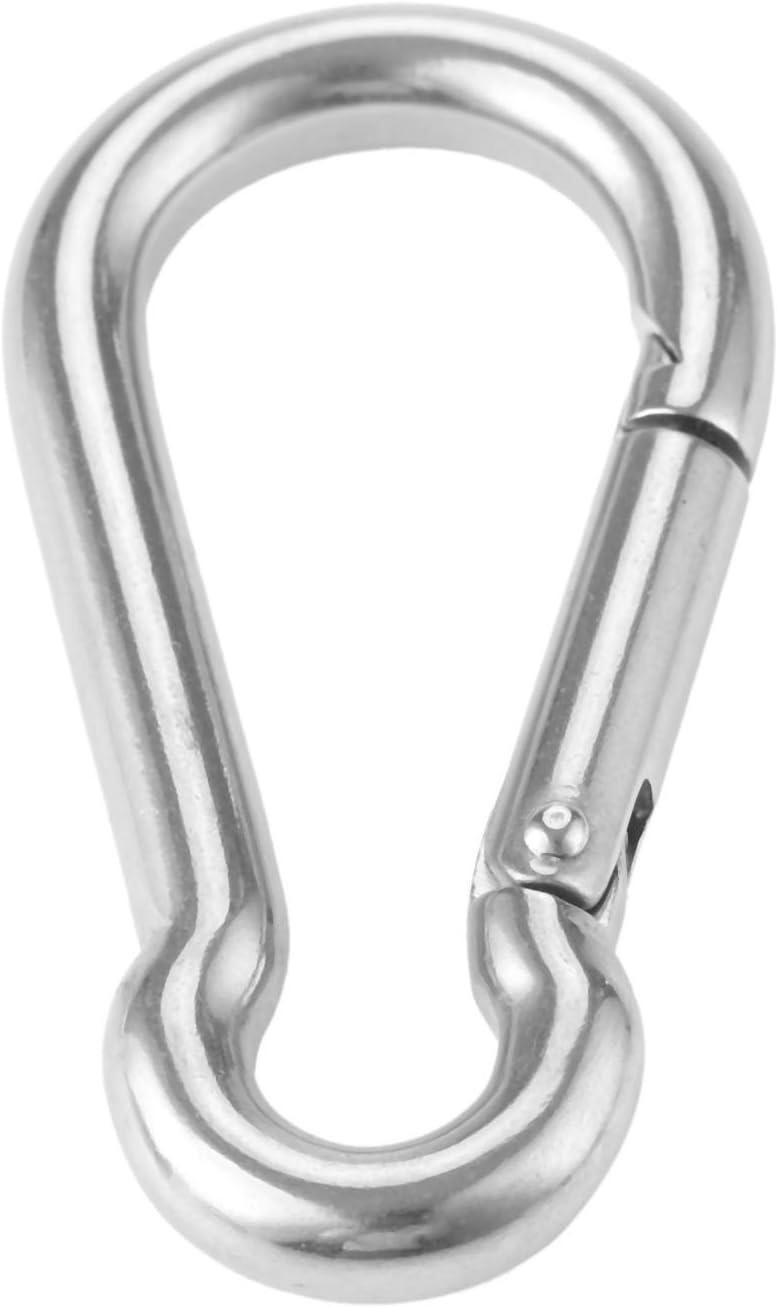316 M5 Karabiner Screw Lock Stainless Steel Carabiner Snap Spring Clip D Hook Yetaha