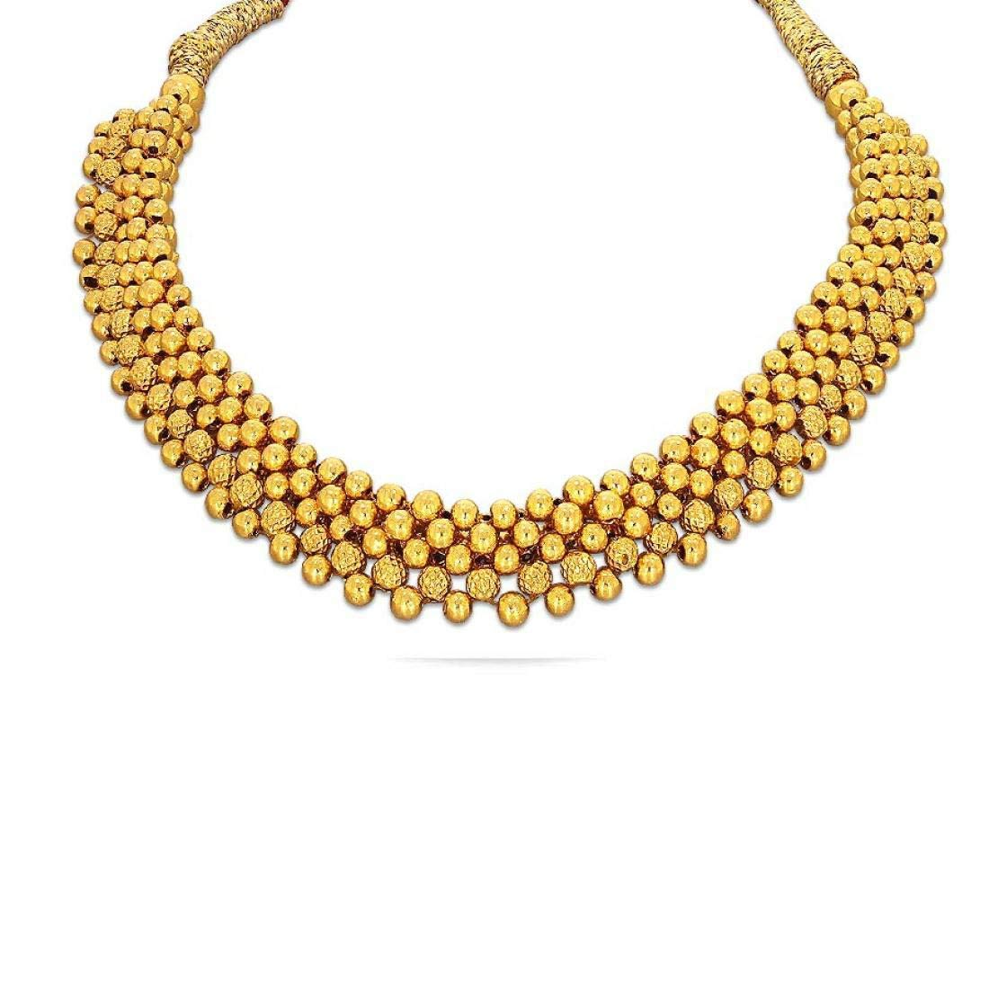 Buy Candere By Kalyan Jewellers 22kt Yellow Gold Choker Necklace For Women At Amazon In