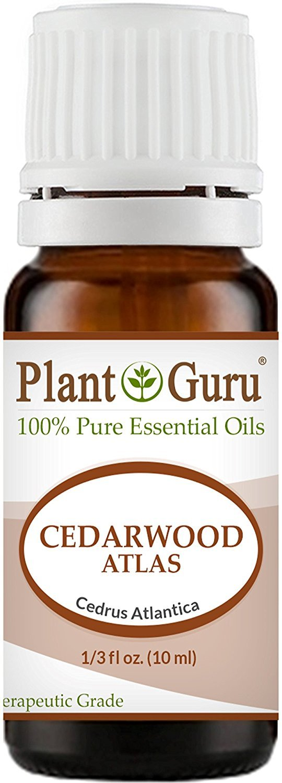 Cedarwood (ATLAS) Essential Oil. 10 ml. 100% Pure, Undiluted, Therapeutic Grade. by Plant Guru B00FAY46UG