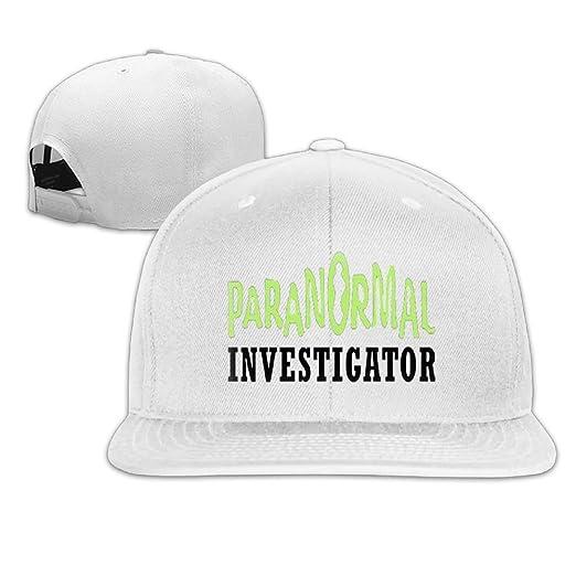 6667c671a02 Amazon.com  Paranormal Investigator Fashion Men Women Sport Hat Custom Cap  Baseball Mesh Hat Design Hatwhite  Clothing