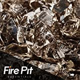 Bronze Reflective Fire Glass 1/4'' Firepit Glass Premium 10 Pounds Great for Fire Pit Fireglass or Fireplace Glass