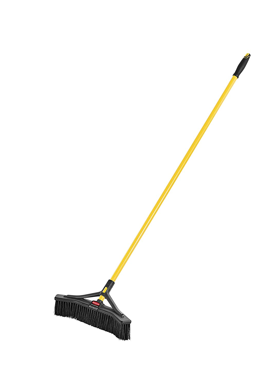 """Rubbermaid Commercial Products Maximizer Push-to-Center Broom with Multi-Purpose Bristle, 18"""" Wide, Black (2018727) (Renewed)"""
