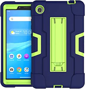Koolbei Case for Lenovo Tab M7 Case,Heavy-Duty Drop-Proof and Shock-Resistant Rugged Hybrid case(with Built-in Stand),for Lenovo Tab M7 7.0inch (TB-7305F /TB-7305L/TB-7305X) Case (Navy Blue/Green)