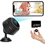 Mini Spy Camera 1080P Hidden Camera (Include a 64G SD Card), with Audio and Video Live Feed WiFi Wireless Cameras, 1080P…