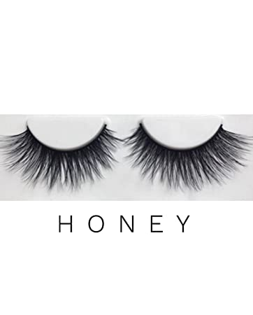 81375505c9b Amazon.com : LAUREN ADORN Premium Faux Mink Lashes | Style: Honey | 3D  Beautiful Wispy Eyelashes | Cruelty-Free and Vegan : Beauty