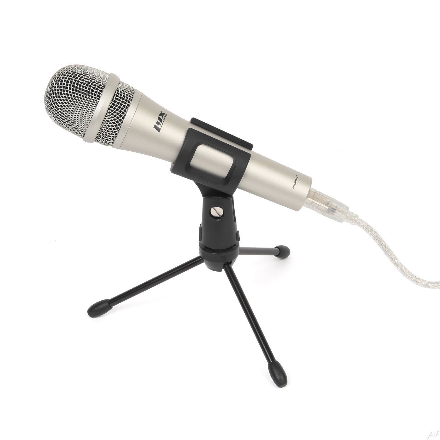 LyxPro HHMU-10 Cardioid Dynamic USB Microphone for Home Recording, Voice Over & Podcasting, Includes Desktop Tripod Stand & USB Cable by LyxPro