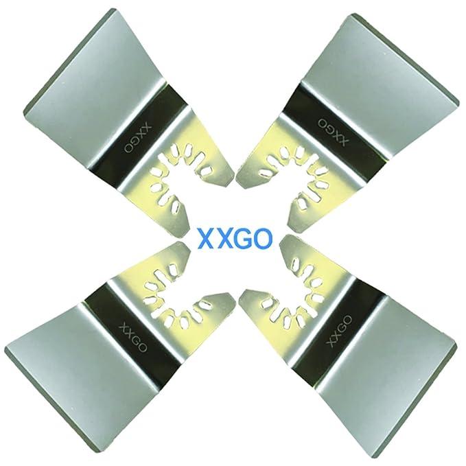 XXGO 20 Pcs 2 Inch Rigid Oscillating Multitool Scraper Blade