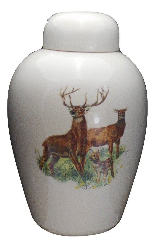Deer -Funeral Urn - Cremation Urn for Human Ashes - Hand Made Pottery
