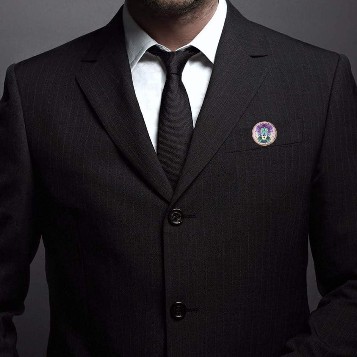 Pinback Buttons Badges Pins Lion Art Lapel Pin Brooch Clip Trendy Accessory Jacket T-Shirt Bag Hat Shoe