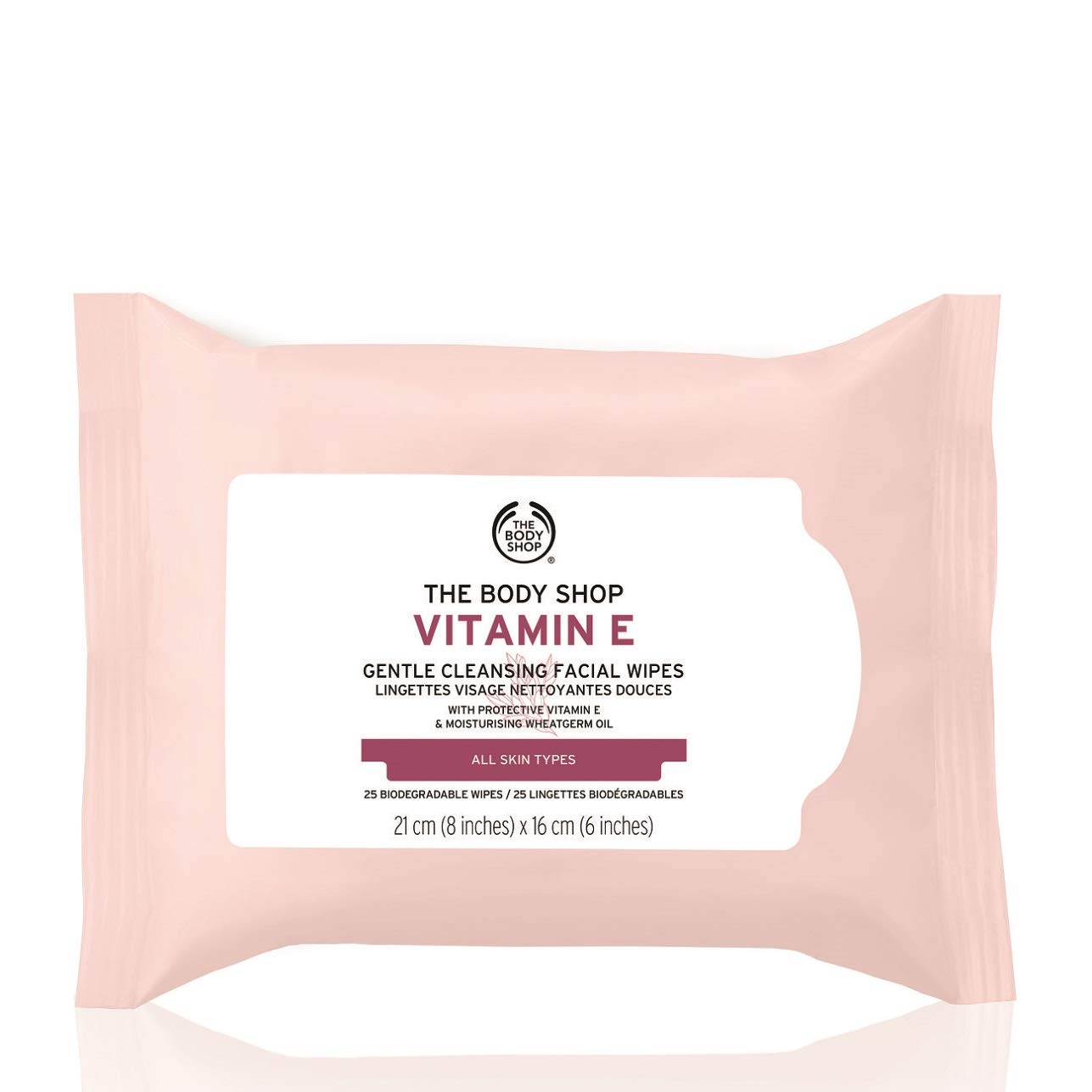 The Body Shop Vitamin E Gentle Facial Cleansing Wipes, 25 Wipes